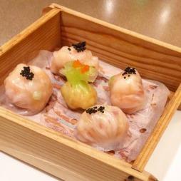 King Prawn Dumpling with Flying Fish Roe & Yunnan Ham