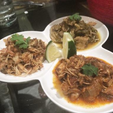 Taco Platter (Steak, Lengua, Pollo de Chipotle)