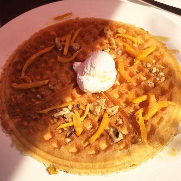 Dried Mango Waffle
