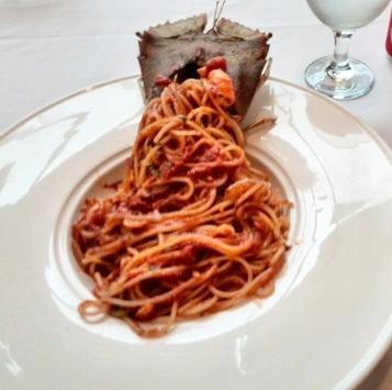 Spaghetti, Shrimp & Langoustine Arrabiatta