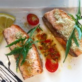 Pan-fried Salmon with Vincotto Sauce