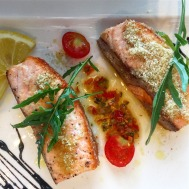 Pan-fried Salmon with Vincotto Sauce