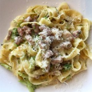 Tagliatelle with Smoke Salmon & Spinach Cream Sauce